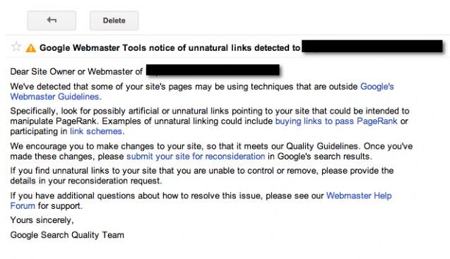 پنالتی گوگل | جریمه گوگل | Manual Action