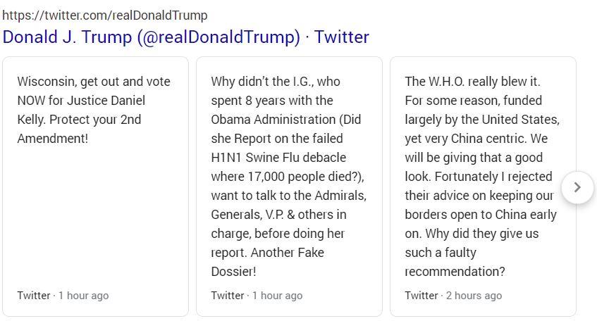 توییتر دونالد ترامپ